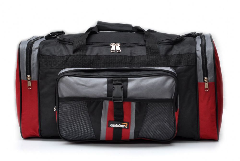 Large 50L foolsGold® Sports Holdall Bag - Red/Black